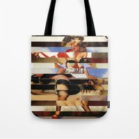 Glitch Pin-Up Redux: Dai… Tote Bag