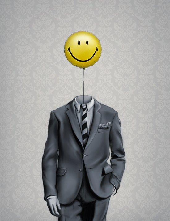 Mr. Smiley :) Canvas Print