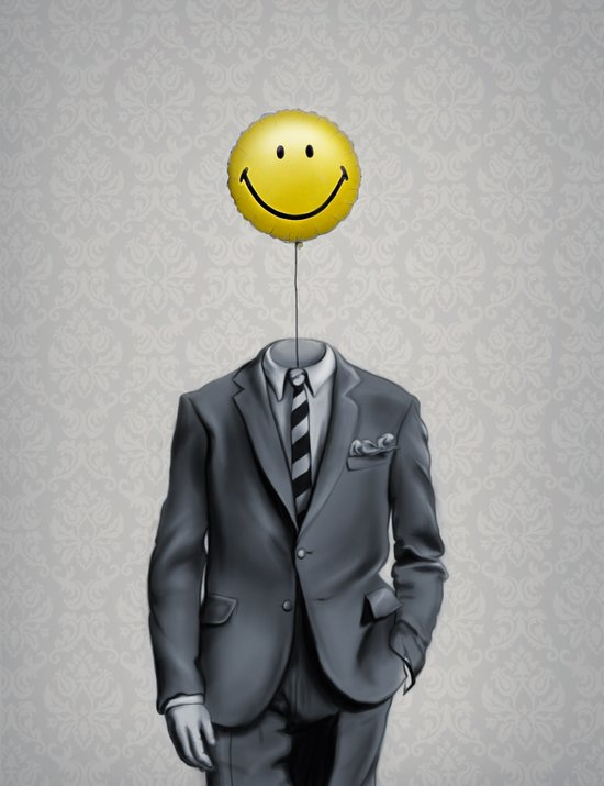 Mr. Smiley :) Art Print