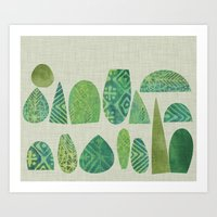 Watercolour Topiary Art Print