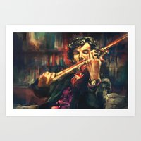 sherlock Art Prints featuring Virtuoso by Alice X. Zhang