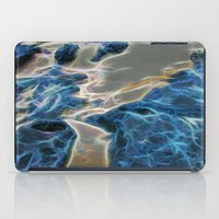 Abstract rock pool and sand on a beach in Queensland iPad Case