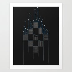 Space Flow Between Buildings Art Print