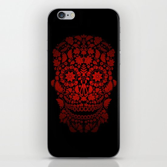 Day of the Dead Skull No.19 iPhone & iPod Skin