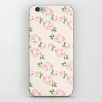 Pink Vintage Roses Patte… iPhone & iPod Skin