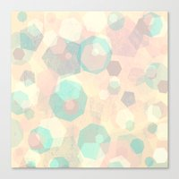 Pastel Geometric Pattern No 1  Canvas Print
