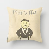 1950s Artwork Throw Pillow