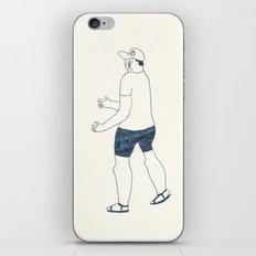 boy in a B cap iPhone & iPod Skin