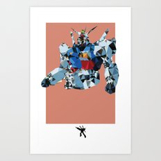 Gundam Polygon Mesh Art Print