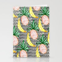 Pineapple and Banana Stationery Cards