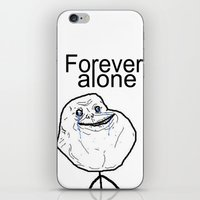 Forever alone iPhone & iPod Skin
