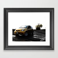Toyota Yaris Framed Art Print