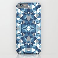iPhone & iPod Case featuring Abstract Collide Blues by Project M