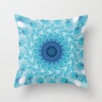 Celestial Joy Mandala Throw Pillow