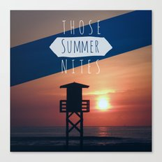 Those Summer Nights (Reprise) Canvas Print