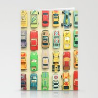 yellow Stationery Cards featuring Car Park by Cassia Beck