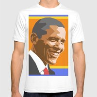 Barack Mens Fitted Tee White SMALL