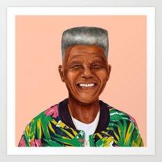 Hipstory - Nelson Mandela Art Print
