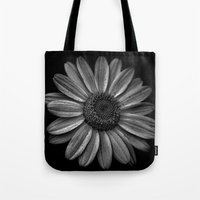 Darkened Daisy Tote Bag