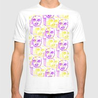 Jack in the Box 2 tone  Mens Fitted Tee White SMALL