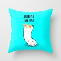 Sunday Fab Day! Throw Pillow