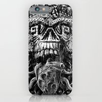 iPhone & iPod Case featuring Aztec Skull by Jorge Garza