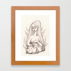 Swine Guardian Framed Art Print