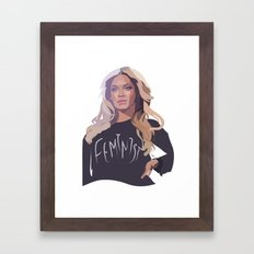 Feminist (Queen B) Framed Art Print
