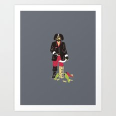 Long John Jenga Art Print