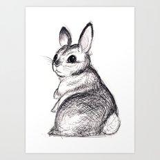 Ballpoint Bunny Art Print