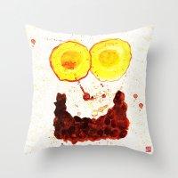Monster Series=Ha__Ng Throw Pillow