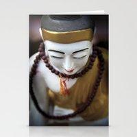 buddha Stationery Cards featuring Buddha by Maria Heyens