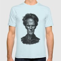 Clint Eastwood Mens Fitted Tee Light Blue SMALL