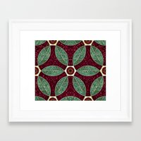 Turkish Bath Mosaic Framed Art Print