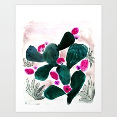 Cactus Prickly Pear Art Print