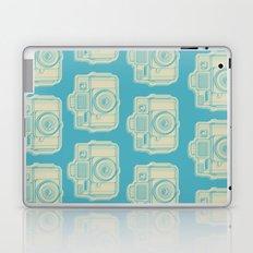 I Still Shoot Film Holga Logo - Turquoise/Tan Laptop & iPad Skin