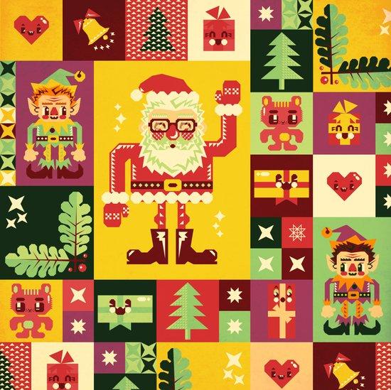 Christmas Geometric Pattern No. 1 Art Print