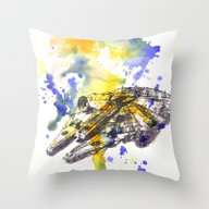 Star Wars Millenium Falc… Throw Pillow