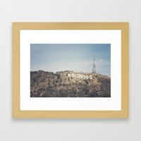 Hike to the Sign Framed Art Print