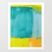 Water And Color 13 Art Print