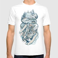 Life & Love At Sea Mens Fitted Tee White SMALL