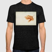 a simple leaf Mens Fitted Tee Tri-Black SMALL