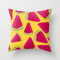 watermelon love Throw Pillow