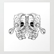 Inside The Face [B&W] Ve… Art Print