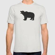 Grizzly Bear II Mens Fitted Tee Silver SMALL