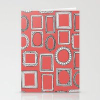 Picture Frames Coral Stationery Cards