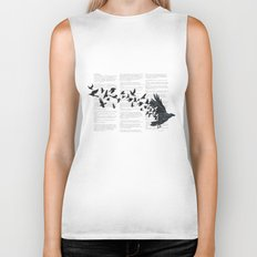 Vintage Style Print with Poem Text Edgar Alan Poe: Edgar Alan Crow Biker Tank