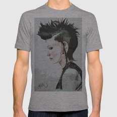 The Girl with the Dragon Tattoo Mens Fitted Tee Athletic Grey SMALL