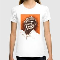 Stevie Wonder Womens Fitted Tee White SMALL