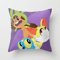 Pokemon: Gen 6 Starters!… Throw Pillow